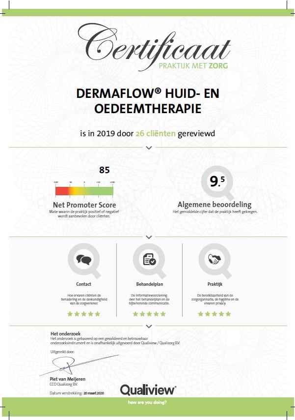DermaFlow scoort 9,5
